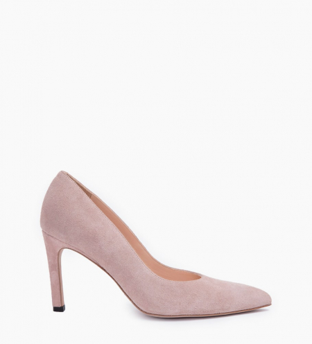 FOREL 7 PUMPS - CUIR VELOURS - NUDE