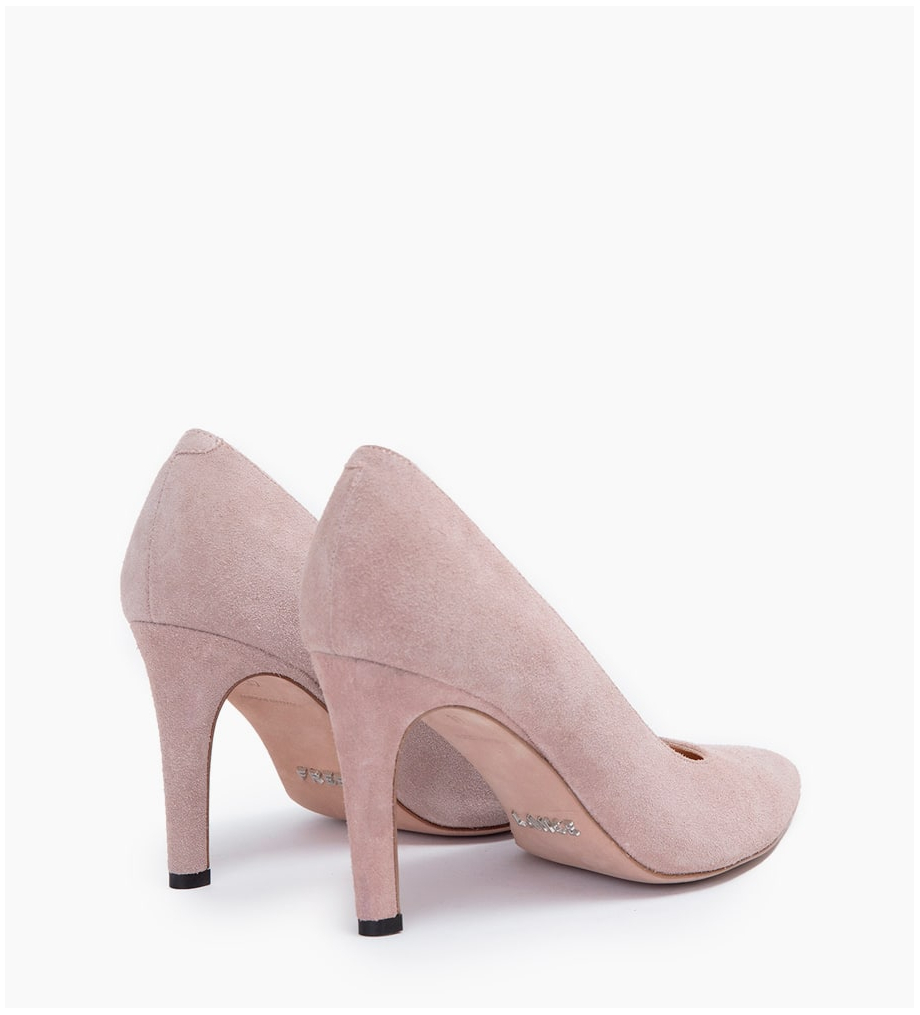 FREE LANCE FOREL 7 PUMPS - CUIR VELOURS - NUDE