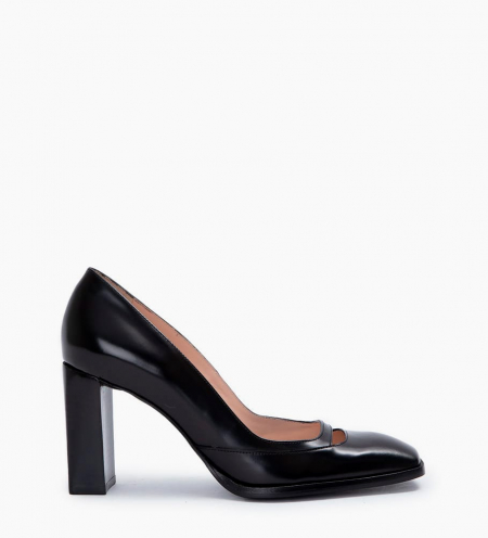 July 8 Cut Out Pumps - Cuir Glacé - Noir