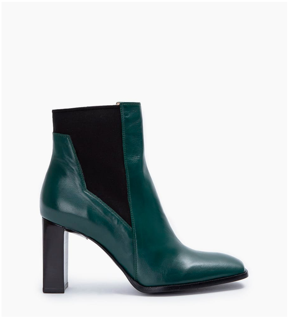 FREE LANCE July 8 Asymetrique Chelsea Boots - Cuir Nappa - Forest