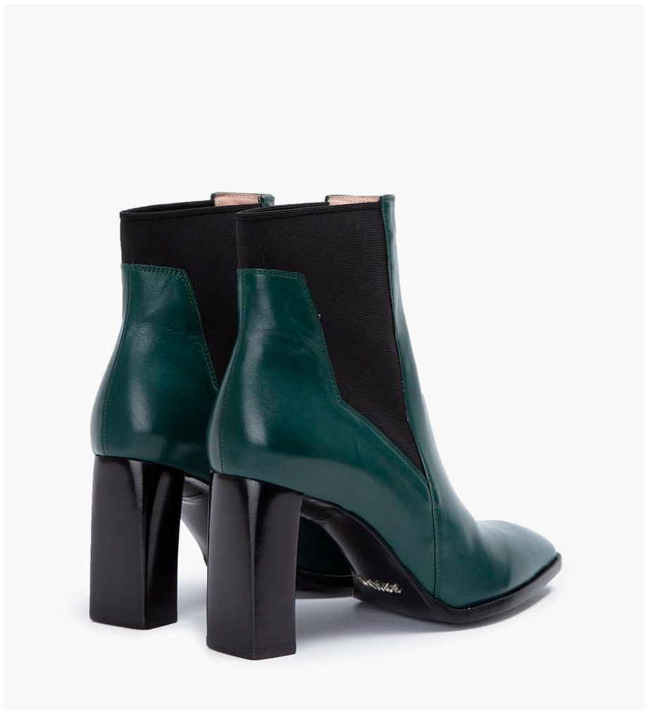 Eshop FREE LANCE July 8 Asymetrique Chelsea Boots - Cuir Nappa - Forest