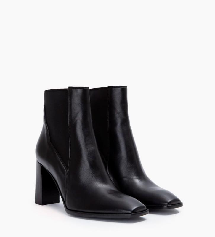 FREE LANCE July 8 Asymetrique Chelsea Boots - Cuir Nappa - Noir