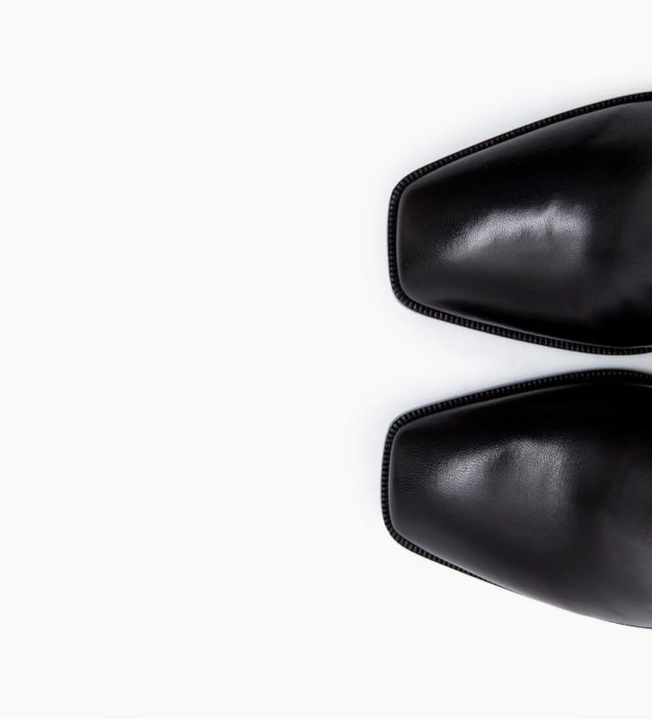 Eshop FREE LANCE July 8 Asymetrique Chelsea Boots - Cuir Nappa - Noir