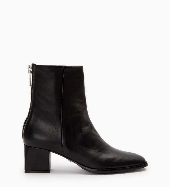 Zoey 5 Back Zip Boots - Cuir Nappa - Noir