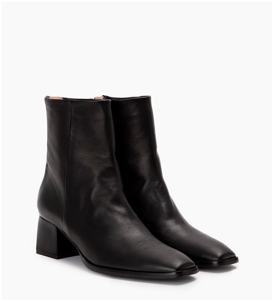 FREE LANCE Zoey 5 Back Zip Boots - Cuir Nappa - Noir