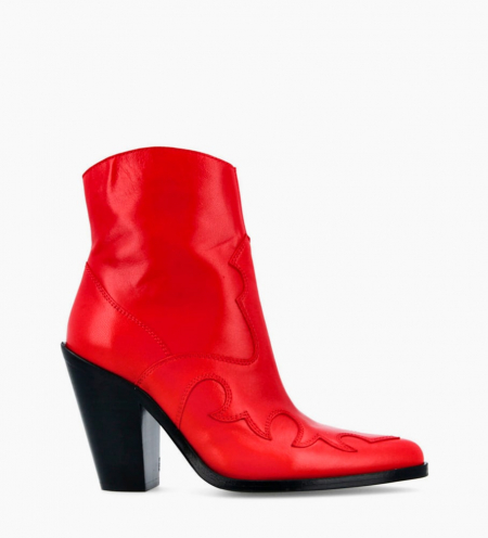 Jane 9 West Zip Boots - Cuir Nappa - Cherry
