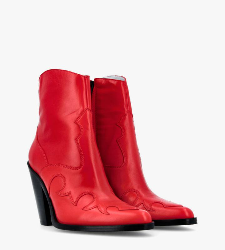 Eshop FREE LANCE Jane 9 West Zip Boots - Cuir Nappa - Cherry