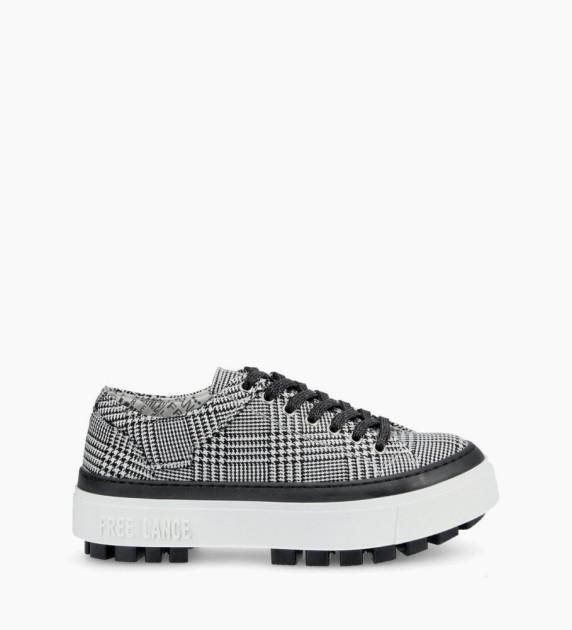 Nakano Low Top Sneakers - Prince De Galles - Noir/Blanc