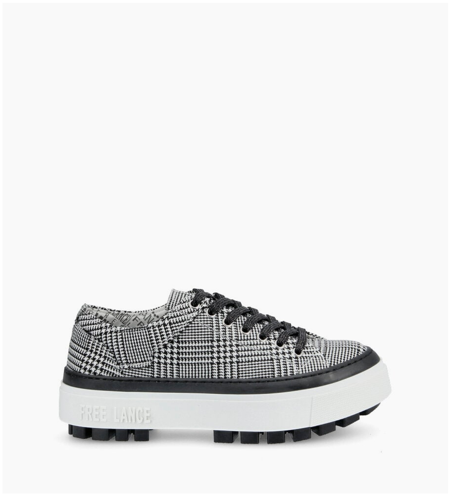 Nakano Low Top Sneakers - Prince De Galles - Noir/Blanc