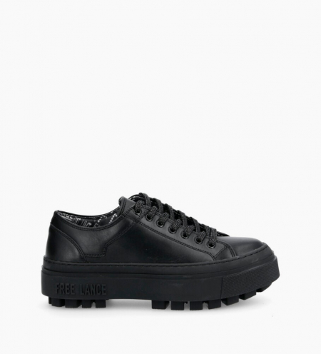 Nakano Low Top Sneakers - Cuir Lisse - Full Black