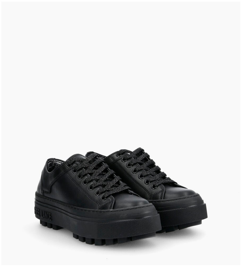 FREE LANCE Nakano Low Top Sneakers - Cuir Lisse - Full Black