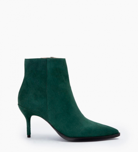 Jamie 7 Zip Boots - Cuir Cachemire - Forest