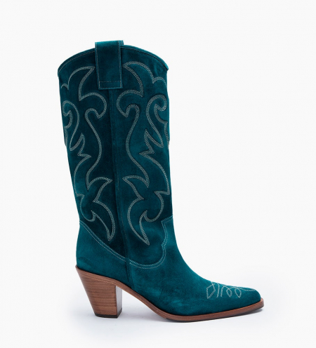 JANE 7 HI WEST BOTTES - CUIR VELOURS - PAON