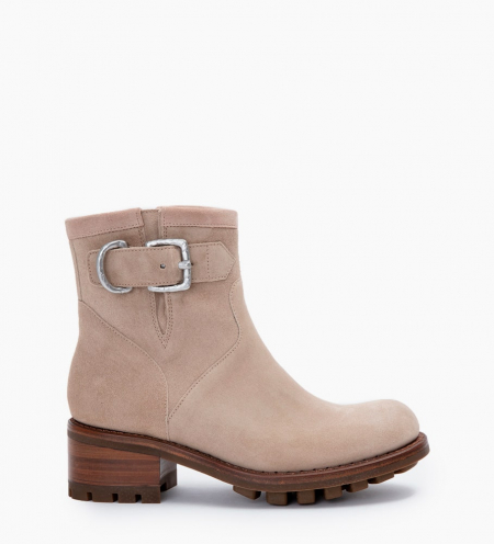 JUSTY 4 SMALL GE BUC - CUIR VELOURS - CAPPUCCINO