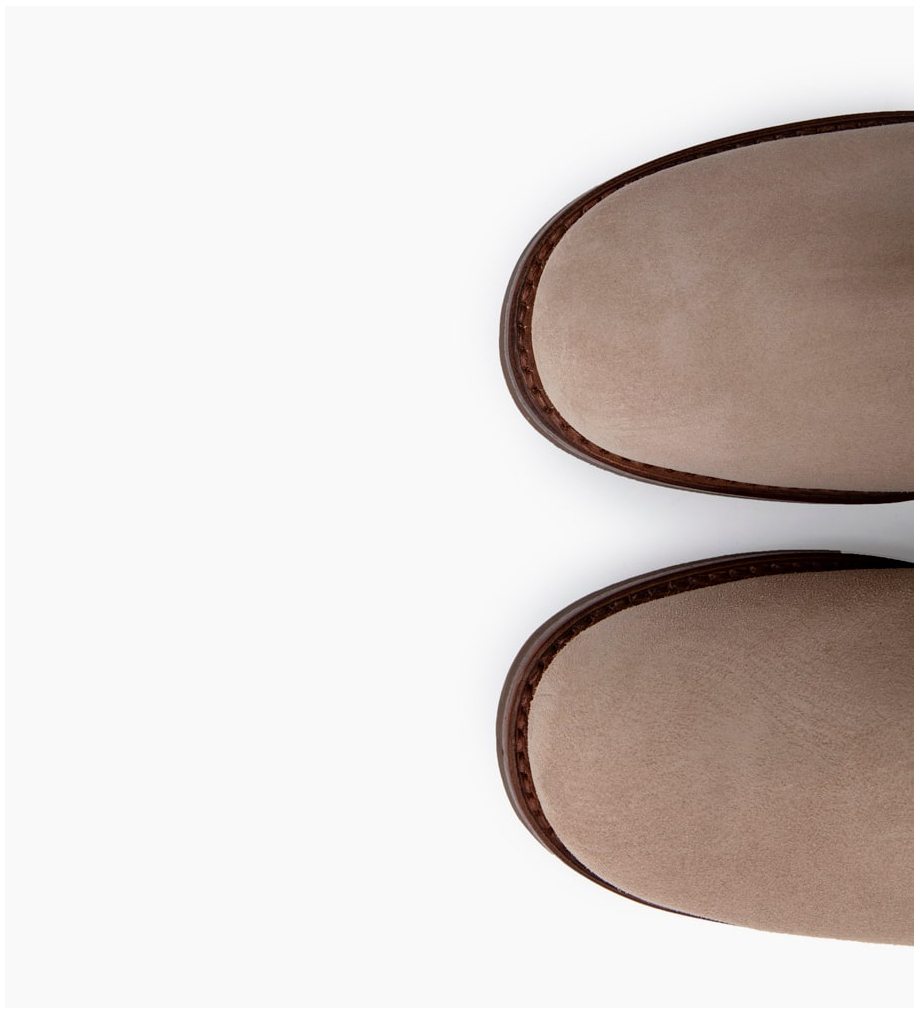 FREE LANCE JUSTY 4 SMALL GE BUC - CUIR VELOURS - CAPPUCCINO