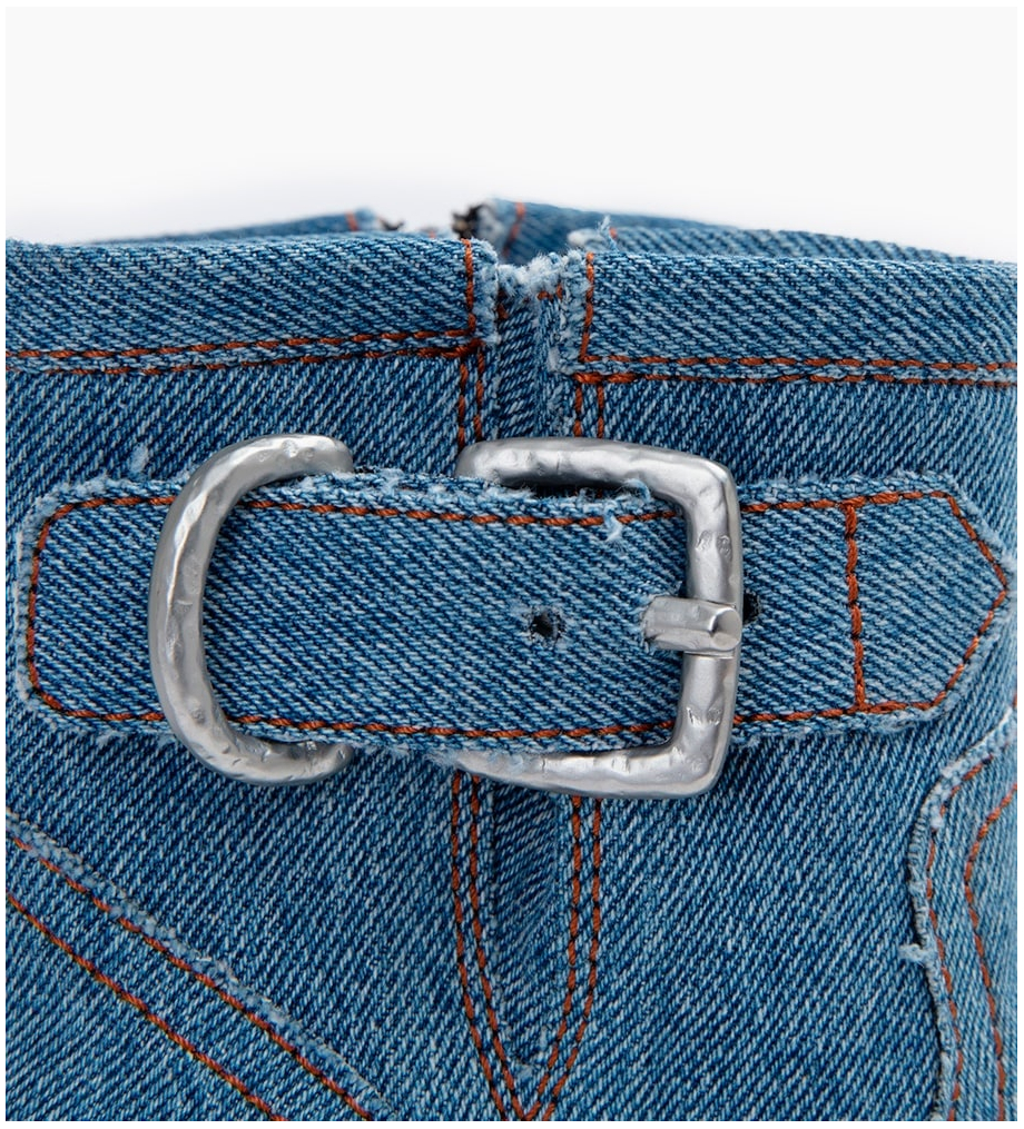 FREE LANCE JUSTY 7 SMALL GERO BUCKLE - DENIM - BLEU VINTAGE