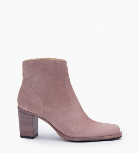 LEGEND 7 ZIP BOOT - CUIR VELOURS - NUDE