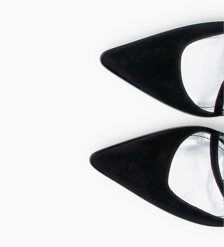 Eshop FREE LANCE Jamie 10 Asymétrique Sling Back Strass Pumps - Cuir Cachemire - Noir