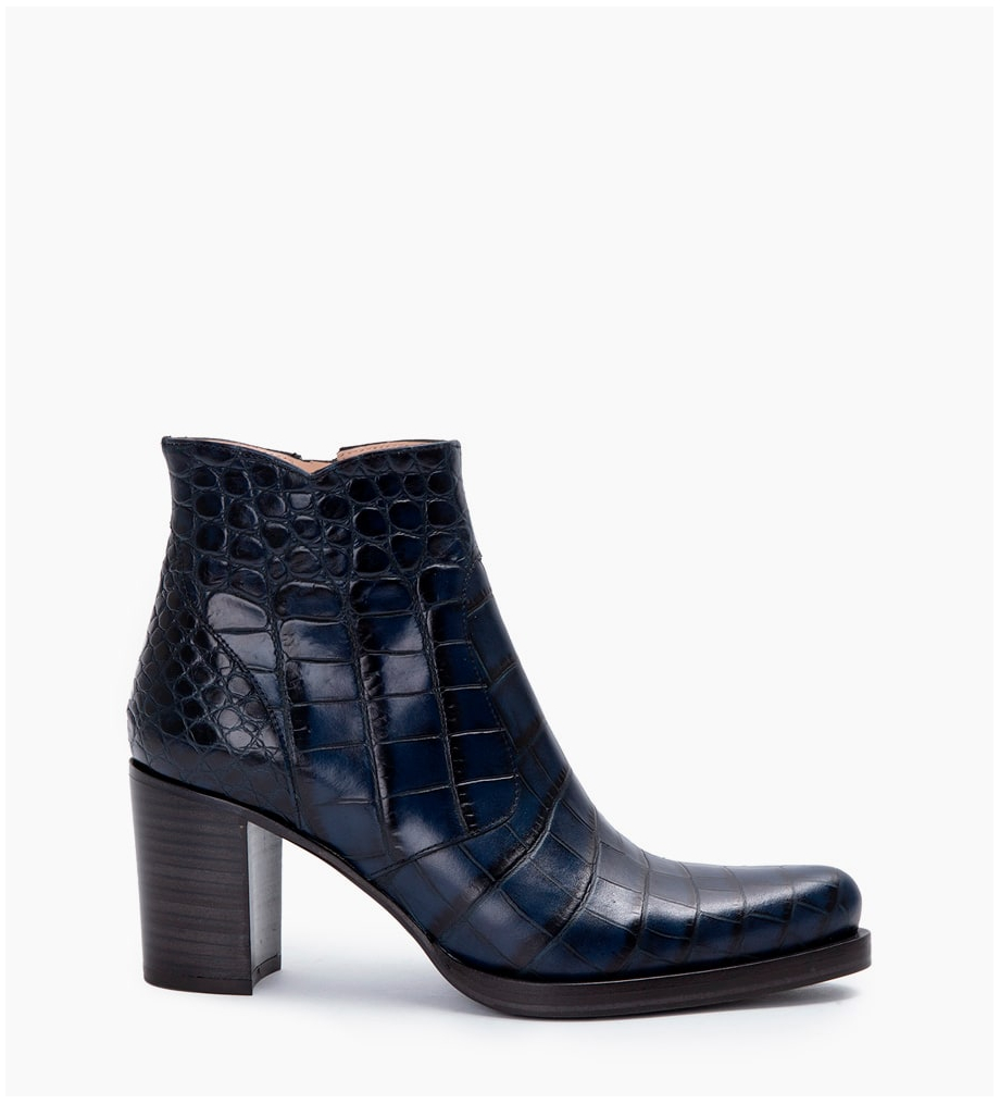 Paddy 7 Zip Boots - Croco First - Bleu Nuit