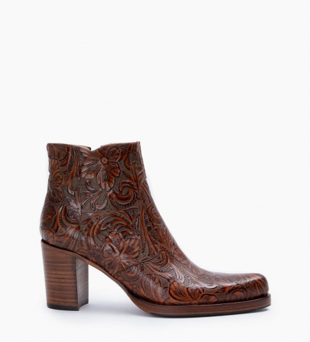 Paddy 7 Zip Boots - Cuir Baroque - Truffe