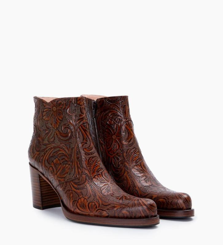 Eshop FREE LANCE Paddy 7 Zip Boots - Cuir Baroque - Truffe