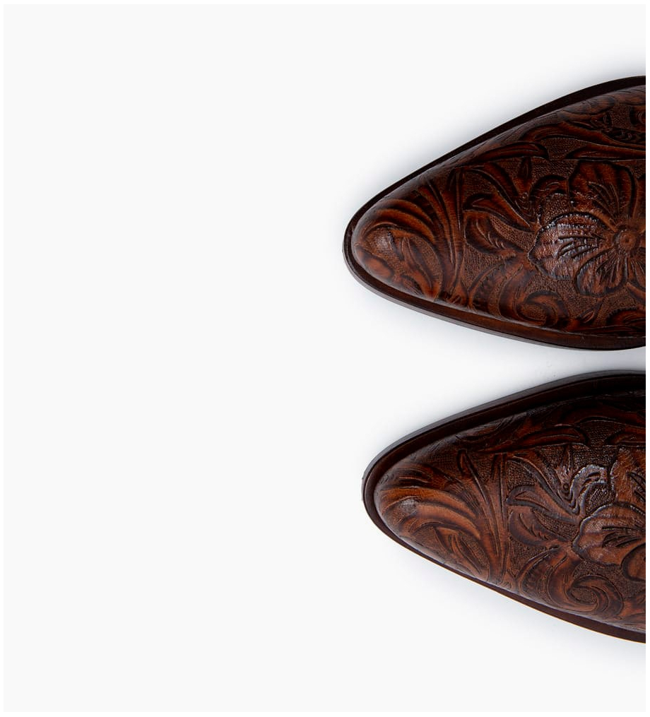 FREE LANCE Paddy 7 Zip Boots - Cuir Baroque - Truffe