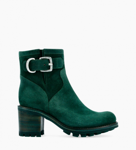 Justy 7 Small Gero Buckle Boots - Cuir Velours - Forest