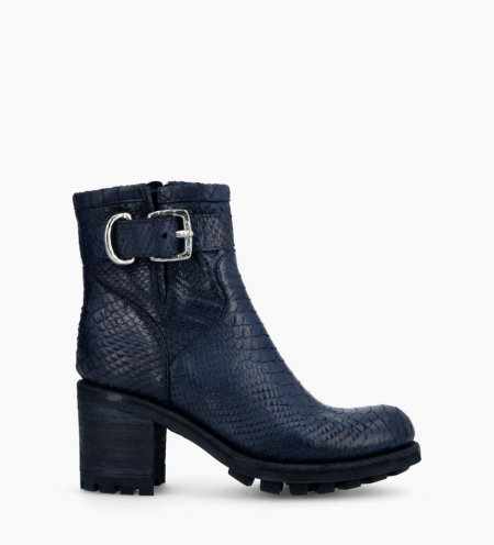 Justy 7 Small Gero Buckle Boots - Diamente Wash - Bleu Nuit