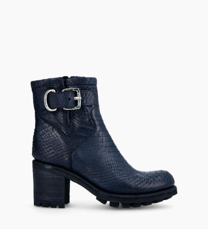 Justy 7 Small Gero Buckle Boots - Diamente Wash - Bleu Nuit