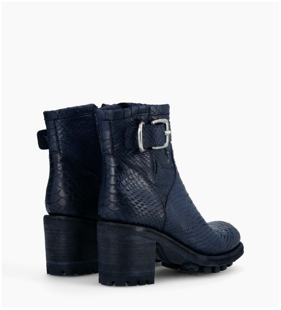 FREE LANCE Justy 7 Small Gero Buckle Boots - Diamente Wash - Bleu Nuit