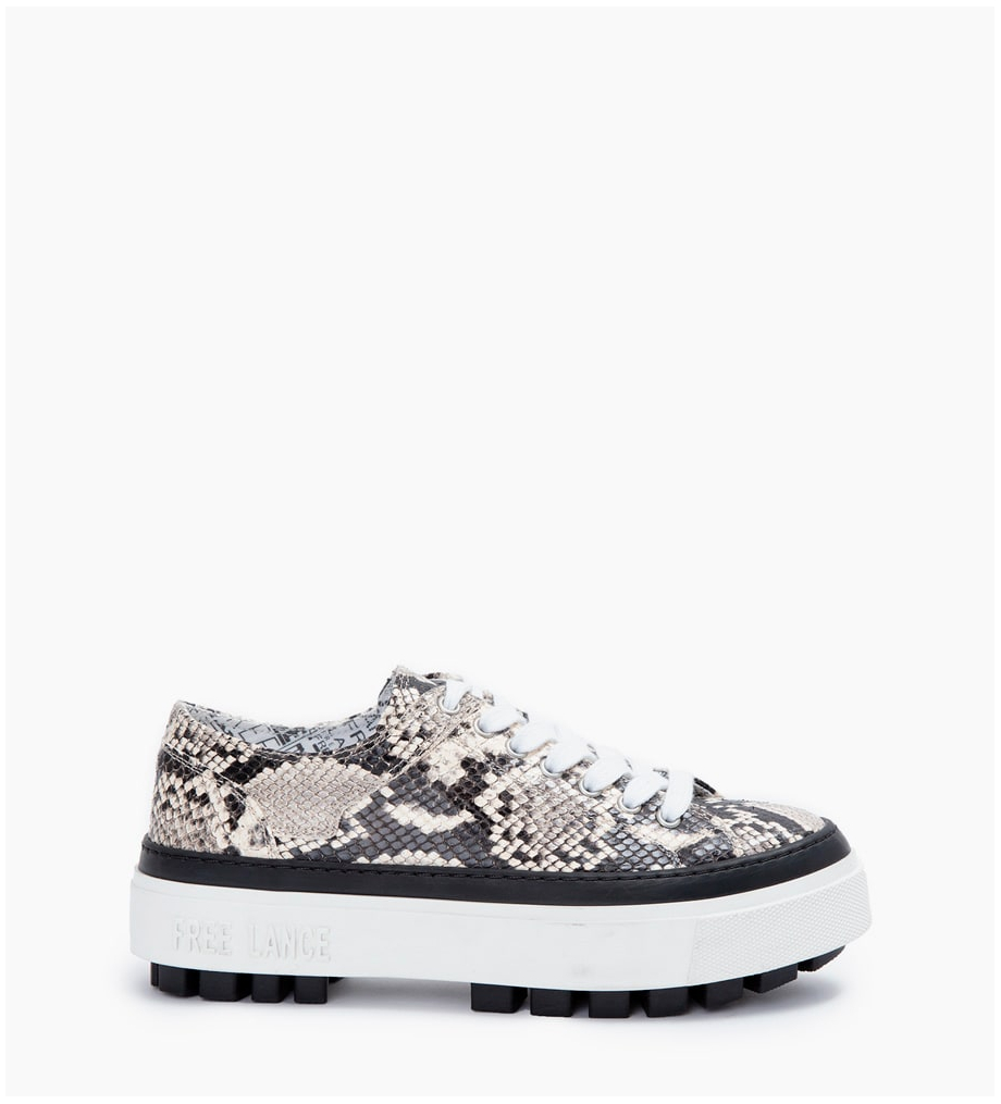 NAKANO LOW TOP SNEAKERS - SNAKE PRINT - ROCCIA