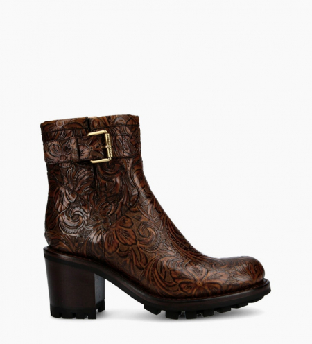 Justy 7 Small Gero Buckle Boots - Cuir Baroque - Truffe