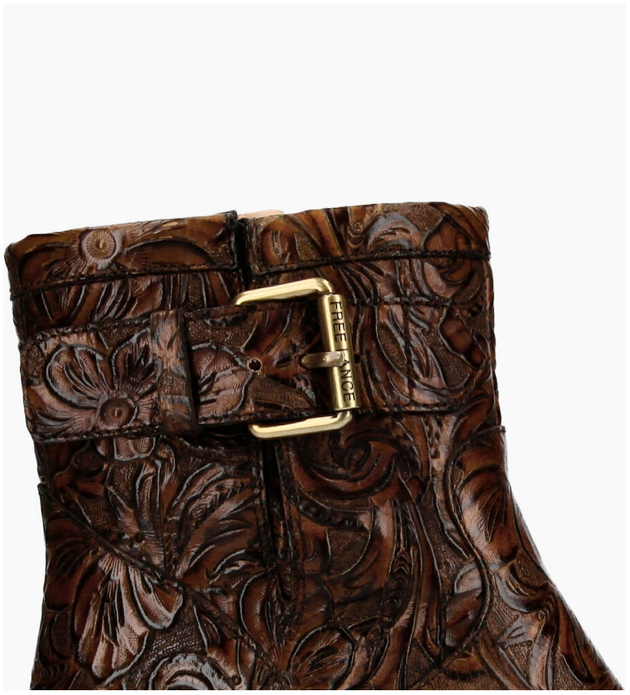 FREE LANCE Justy 7 Small Gero Buckle Boots - Cuir Baroque - Truffe