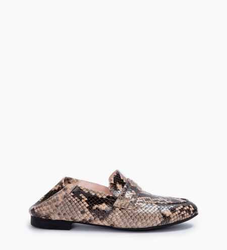 NOÏS LOAFERS - SNAKE PRINT - SABLE