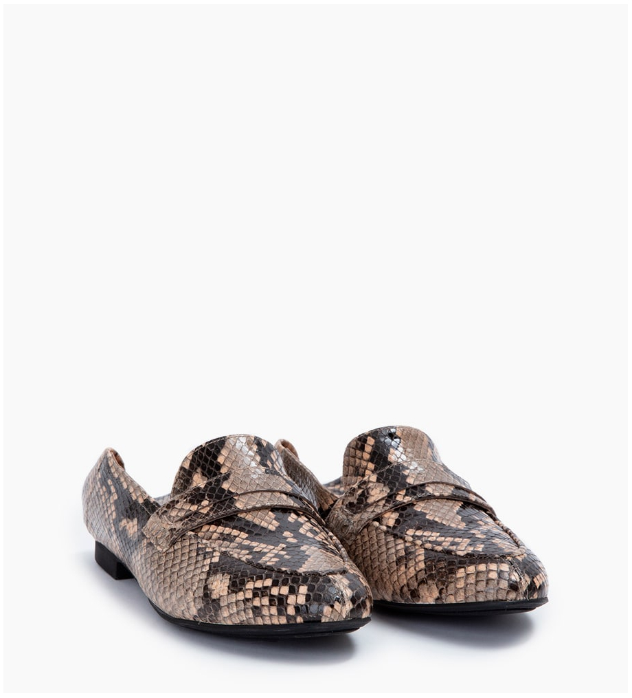 NOÏS LOAFER - SNAKE PRINT - SABLE