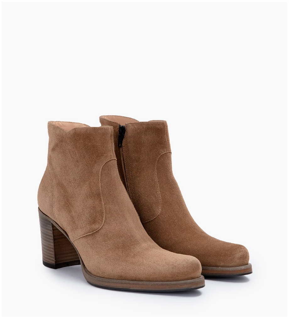 FREE LANCE PADDY 7 ZIP BOOTS - CUIR VELOURS - TAUPE
