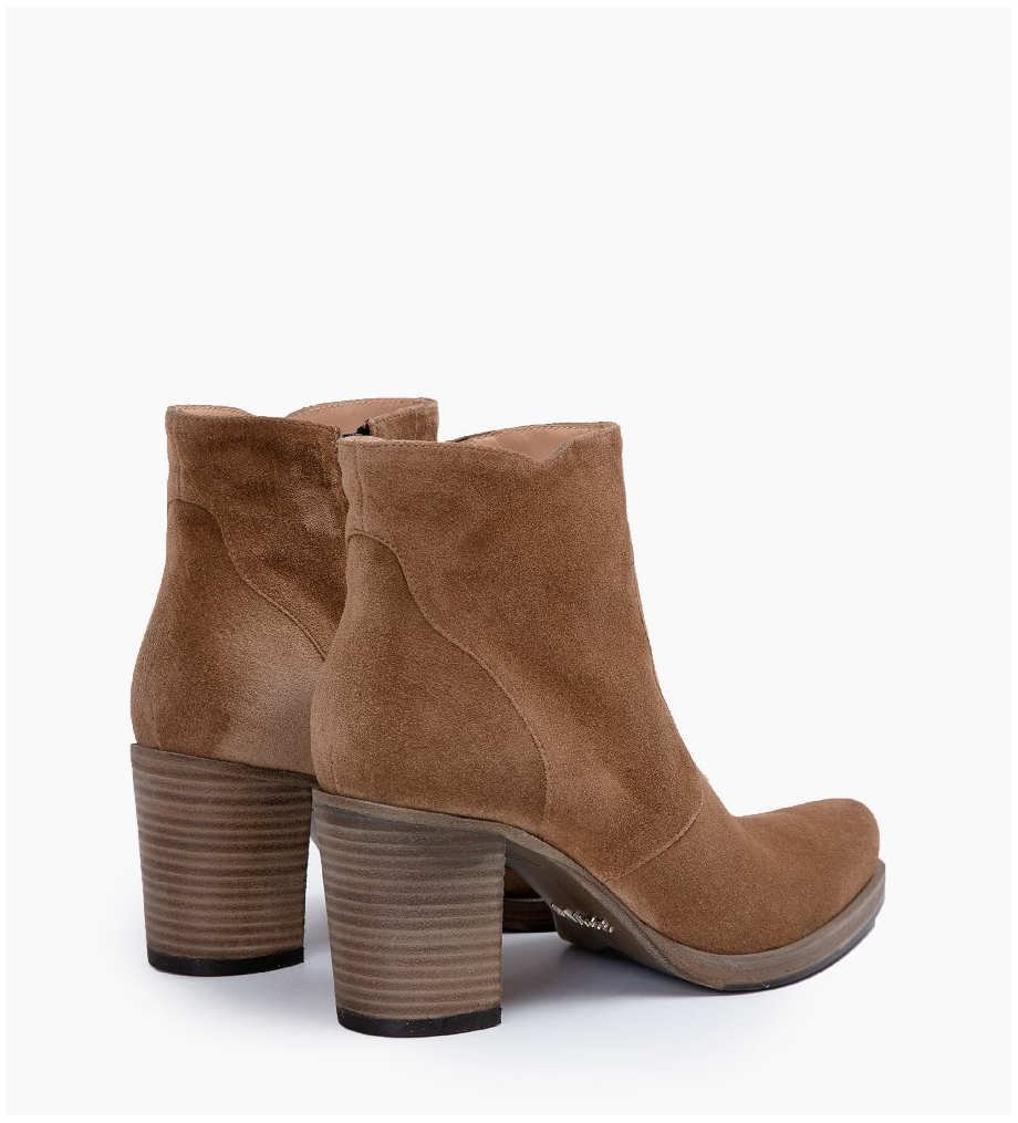 Eshop FREE LANCE PADDY 7 ZIP BOOT - CUIR VELOURS - TAUPE