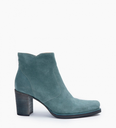 PADDY 7 ZIP BOOTS - CUIR VELOURS - STONE