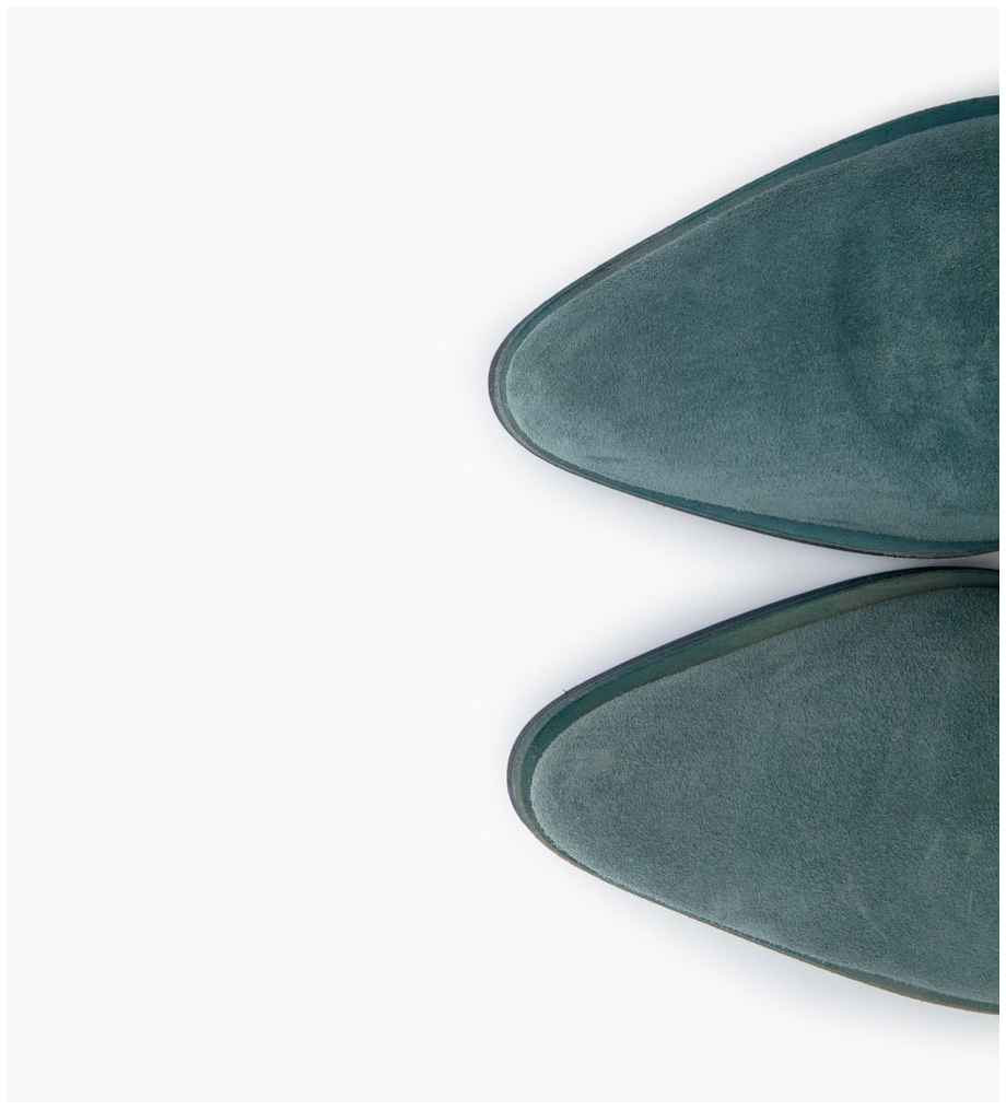 FREE LANCE PADDY 7 ZIP BOOTS - CUIR VELOURS - STONE