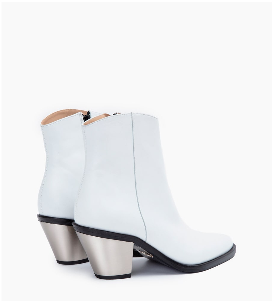 FREE LANCE TRINITY 7 ZIP BOOTS - VEAU LISSE - BLANC