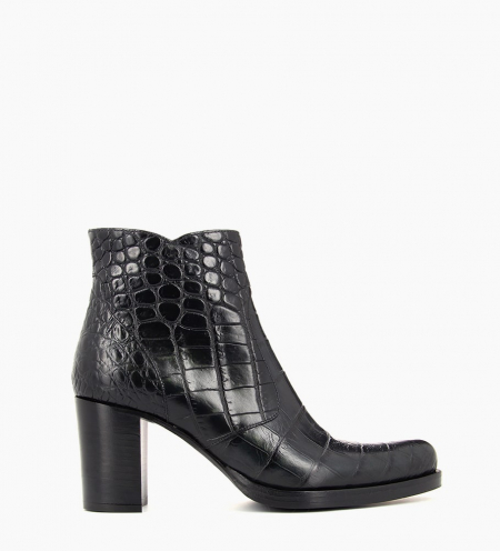 PADDY 7 ZIP BOOT - CROCO FIRST - NOIR