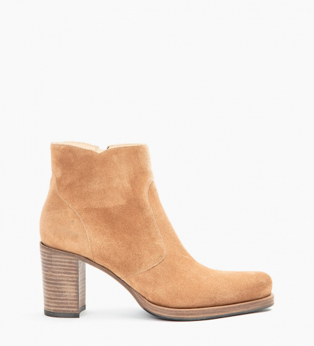 PADDY 7 ZIP BOOTS - CUIR VELOURS - DUNE