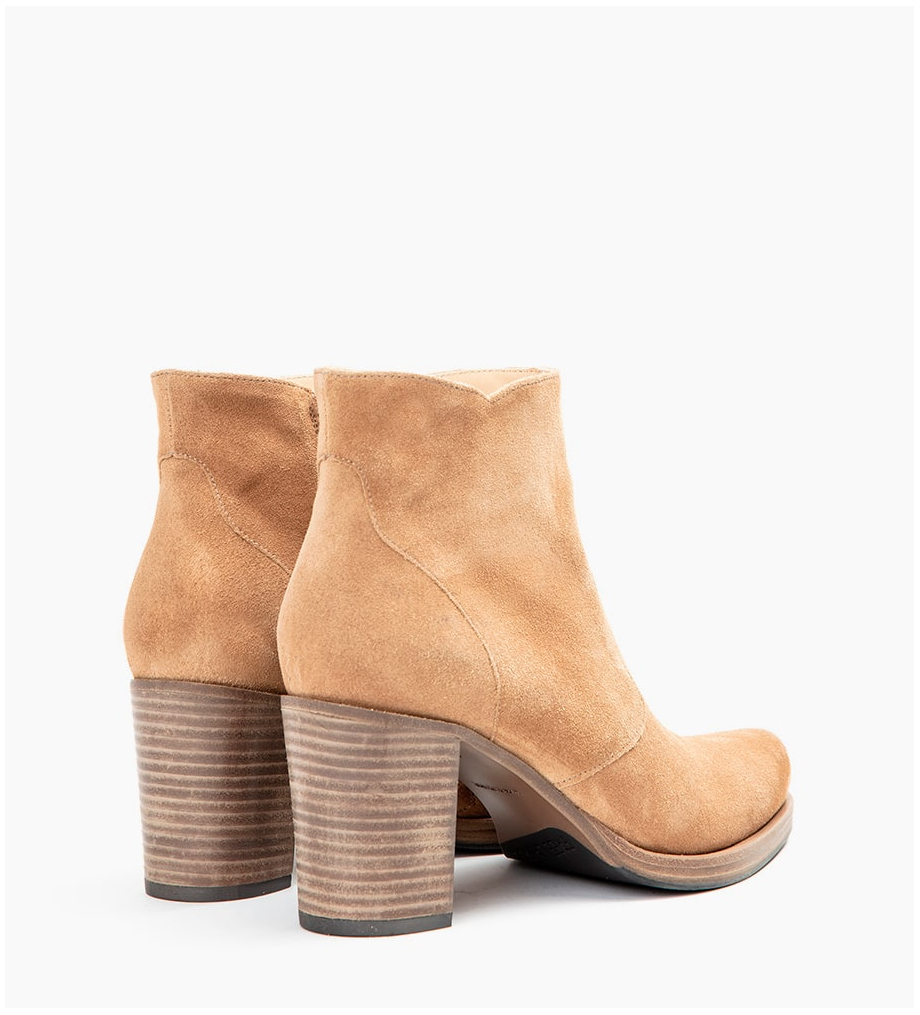 Eshop FREE LANCE PADDY 7 ZIP BOOTS - CUIR VELOURS - DUNE