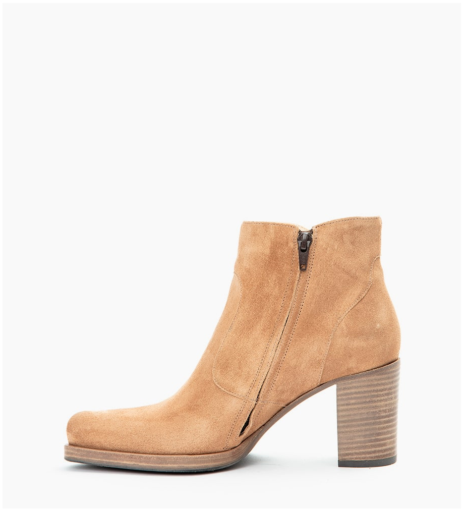 FREE LANCE PADDY 7 ZIP BOOTS - CUIR VELOURS - DUNE
