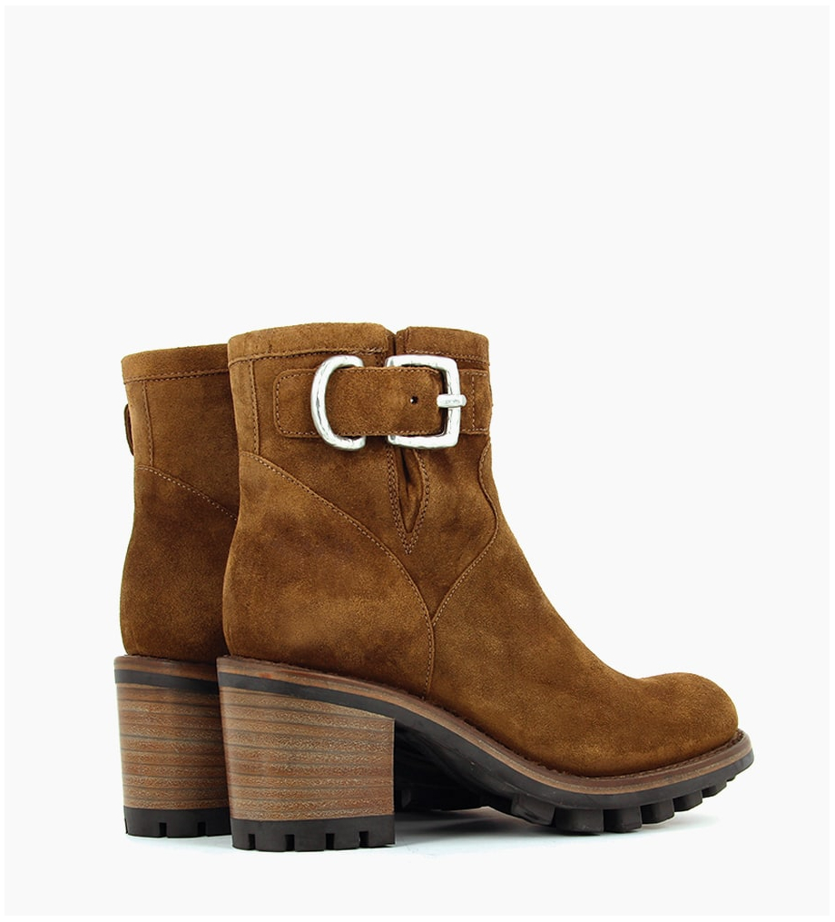 Eshop FREE LANCE JUSTY 7 SMALL GERO BUCKLE - CUIR VELOURS - CIGARE