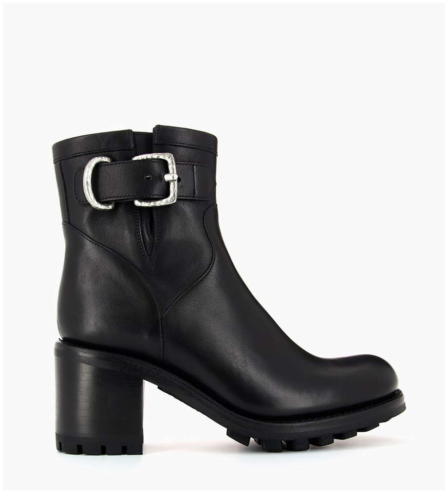 Eshop FREE LANCE JUSTY 7 SMALL GERO BUCKLE - CUIR LISSE - NOIR