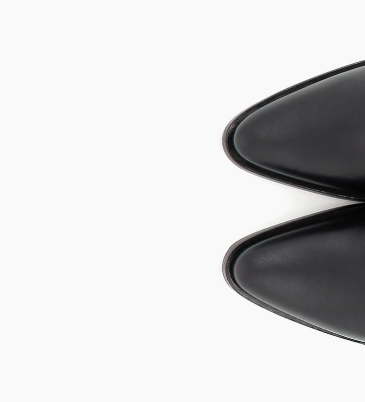 FREE LANCE JANE 7 LOW CHELSEA BOOTS - CUIR LISSE BRILLANT - NOIR