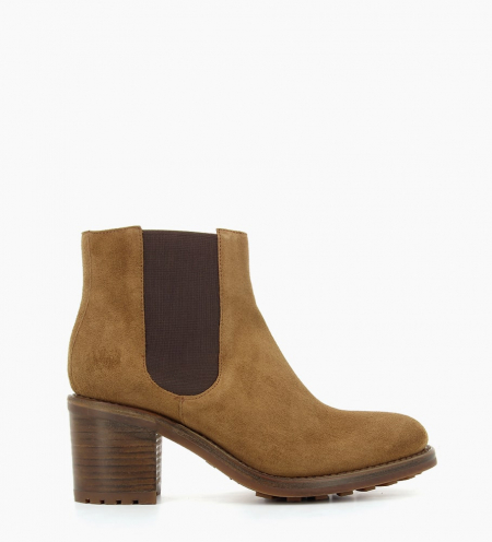 DAYTONA 7 CHELSEA BOOTS - CUIR VELOURS - CIGARE