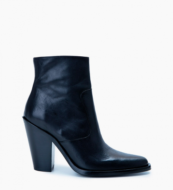 Jane 9 Zip Boots - Cuir Végétal - Noir