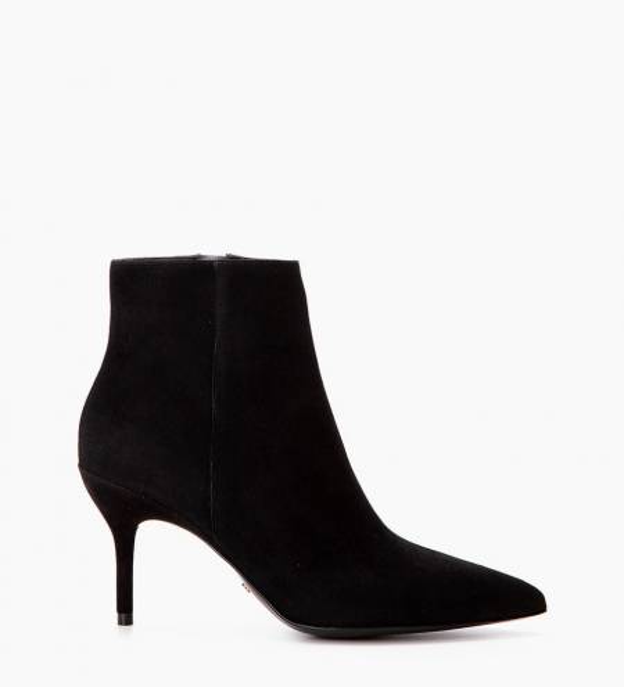 Jonie 7 Zip Boots - Chèvre Velours - Noir
